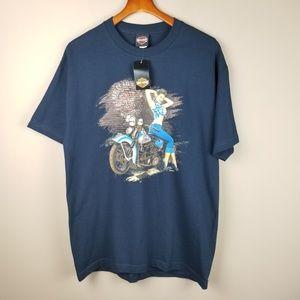 Harley-Davidson NWT Men's L Blue Short Sleeve Tee